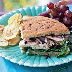 Chicken-Arugula Focaccia Sandwiches by Cooking Light