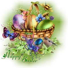 Elegant Easter Basket with Easter Eggs Happy Easter Quotes, Happy Easter Wishes, Happy Easter Wallpaper, Holiday Wallpaper, Happy Easter Pictures Inspiration, Images Wallpaper, Easter Messages, Coloring Easter Eggs, Easter Printables