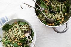 Oh wow. I wish I had preserved lemon! (I might have to make it without - this looks too good to pass up!) Preserved Lemon + Chickpea Pasta with Parsley Pesto » The Year In Food