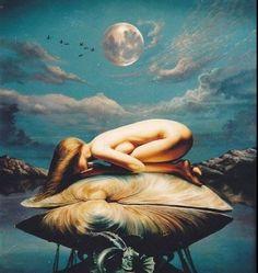 A modern sensual painting of Aphrodite, the goddess of love. Sacred Feminine, Divine Feminine, Aphrodite Goddess, Moon Goddess, Aphrodite Tattoo, Mother Goddess, Goddess Of Love, Beautiful Goddess, Wow Art