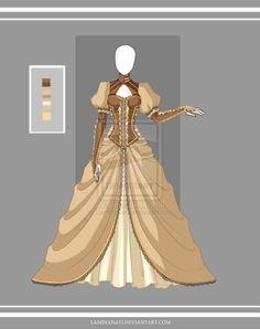 Adoptable outfit 21(closed) by LaminaNati Fashion Design Drawings, Fashion Sketches, Drawing Fashion, Anime Outfits, Dress Outfits, Kleidung Design, Anime Dress, Dress Sketches, Dress Drawing