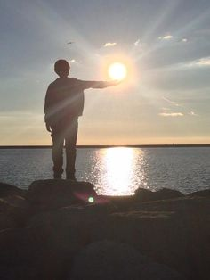 Picture I took of my son - Sunset Lake Erie by Ive Rodriguez