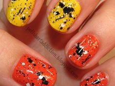 halloween-nail-art-orange-yellow