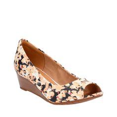 3f5122caaa1044 Vendra Daisy Mulit Print Leather womens-wedges Black Wedge Sandals