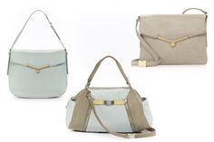 Botkier - powder blue and light gray bags