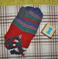 double knitting mittens for 1yo