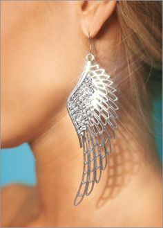 I have these in a darker shade, love them! angel wing earrings $14
