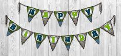 Hulk - Inspired Printable Birthday Banner (Instant Download)-shop Shnookers via Etsy