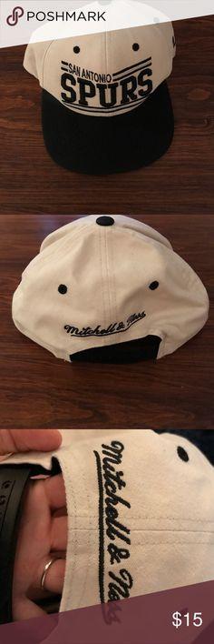 Brand new flat bill Spurs cap. Brand new Black and Tan, flat bill, spurs hat. Mitchell & Ness Accessories Hats
