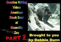 Creative writing video: American Black Bears at Knoxville Zoo part 2