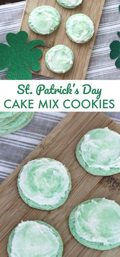 Patrick's Day Cake Mix Cookies Easy St. Patrick's Day Cake Mix Cookies. These are so easy and all you need is 3 ingredients! This recipe for cake mix cookies is the best. Best Holiday Cookies, Holiday Cookie Recipes, Holiday Baking, Holiday Treats, Christmas Cookies, Holiday Fun, Cake Mix Cookie Recipes, Cake Mix Cookies, Cake Recipes