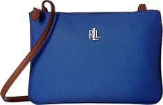 99b130399 LAUREN Ralph Lauren Women's Bainbridge Tara Medium Crossbody Cobalt One Size  designer handbags spring handbags handbag