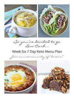 Week Six Free 7 Day Keto and Low Carb 7 Day Menu Plan from ibreatheimhungry.com