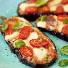 Vegetarian carb free pizza.  Aubergine baked - awesome!
