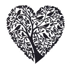 Papercut Heart by Yasemin Wigglesworth