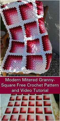 Modern Mitered Granny Square - Free Pattern and Video Tutorial
