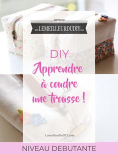 DIY Tutorial très facile pour apprendre à coudre une trousse en tissu même quand on est débutante Patron et explications inclus Bead Crafts, Diy And Crafts, Crafts For Kids, Diy Trousse, Diy Tutorial, Buzzfeed Diy, Softies, Diy Gifts, Sephora