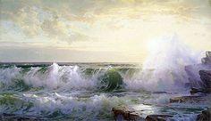Title: Newport Coast, 1902 Artist: William Trost Richards Medium: Hand-Painted Art Reproduction