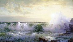 Title: Newport Coast, 1902 Artist: William Trost Richards Medium: Hand-Painted Art Reproduction