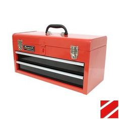 Homak 20-in 2-Drawer Lockable Red Steel Tool Box
