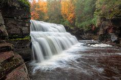 Canyon Falls-Autumn on the Sturgeon River in Upper Michigan Michigan Waterfalls, Chippewa Falls, Waterfall Photo, Iron Mountain, State Of Michigan, Upper Peninsula, Circle Of Life, Great Lakes, Framed Art Prints