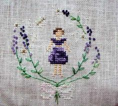 Stitcher: Anne Marie Courly (from Brodstitch)  - Design: The Snowflower Diaries: Lavender Girl (2013)
