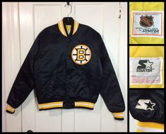 Excited to share the latest addition to my  etsy shop  1980 s Black Starter  Jacket a0bd92eb7