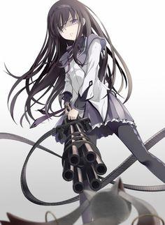 Akemi Homura - Puella Magi Madoka Magica /////// http://blog.vectorlibre.com/