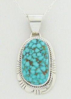 This attractive pendant is very eye-catching and will become a welcomed addition to all Native American jewelry collections.