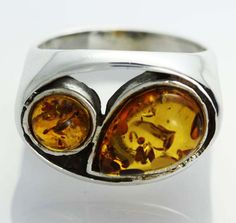 UNISEX AMBER  SILVER RINGS 7 SIZE 31.25 CTS [SJ541]  baltic amber ring , gemstone ring , ring size , silver gemstone ring