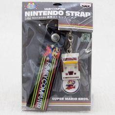 Nintendo Famicom Miniature Figure Strap Super Mario Bros. Ver. JAPAN GAME NES