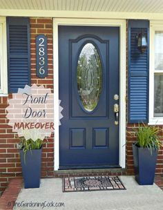 Chainging the front door to your home can add so much curb appeal.
