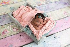 10 day old baby girl in pretty pastel shades.  So girly.  Orlando newborn photographer