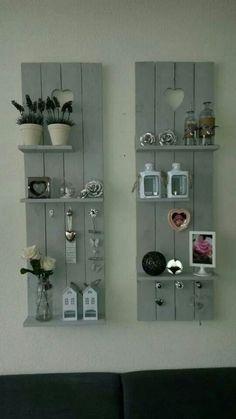 Shelves on a shutter
