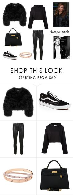 """8.2."" by ronniebenett ❤ liked on Polyvore featuring Diane Von Furstenberg, Vans, Frame, Golden Goose, Cartier and Hermès"