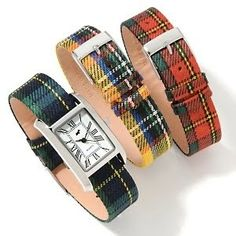 plaid watch bands