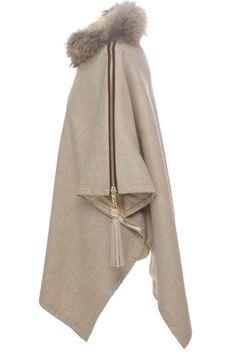 Holland-Cooper-Tweed and Fur Wrap (Malt)-021