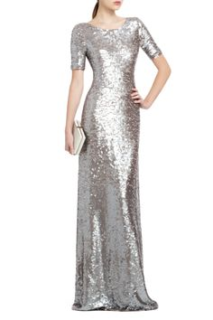 BCBGMAXAZRIA - DRESSES: EVENING: ENNOR SEQUINED EVENING DRESS