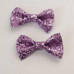 Glitter Hair Bow Pair - Candyfloss