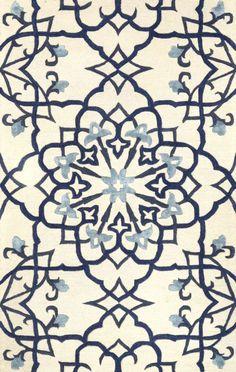 Satara FG78 Blue Rug | Contemporary Rugs