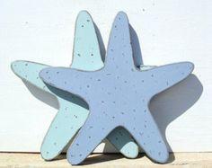 starfish wood nautical art by folkycreations on Etsy