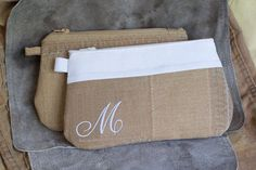 Firefighter Turnout Gear Clutch - Monogrammed, great idea for a fireman's wedding, bridesmaids gift, made from retired bunker gear.