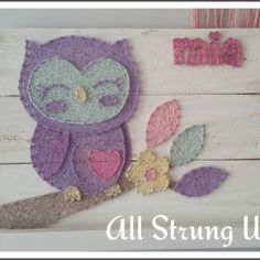 pastel baby owl all strung up string art