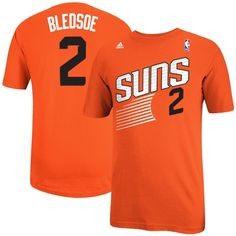 Mens Phoenix Suns Eric Bledsoe adidas Orange Net Number T-Shirt