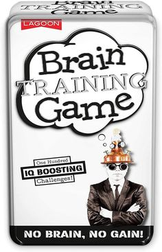 Show 'em how smart you are! If you can think outside of the box, you'll knock it out of the park with these IQ-boosting brain teaser challenges. Play solo or go head to head in a battle of the brains. Featuring more than 100 puzzles, this is the perfect game for a cerebral workout and for players to test their intelligence against the clock. Great for players aged 10+. Brain Training Games, Brain Games, Perfect Game, Memory Games, Brain Teasers, Knock Knock, Games To Play, Puzzles, The Outsiders