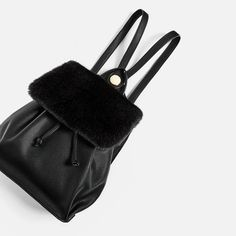 Image 1 of FAUX FUR BACKPACK from Zara
