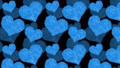 Cottony blue hearts
