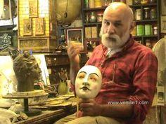 Fabricant de masques de Carnaval de Venise, l'artiste Guerrino Lovato, par www.venise1.com - YouTube