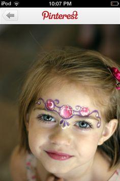#facepaint #princess #tiara