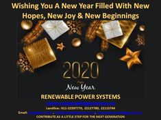 We #Renewablepowersystemsdelhi congratulate you for your successful ending 2019 and pray for wonderful #NewYear2020